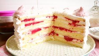 Идеальный торт на праздник Торт Молочная девочка с клубничным конфи Cake Milk girl
