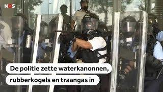 Heftige beelden: politie grijpt keihard in bij protesten Hongkong