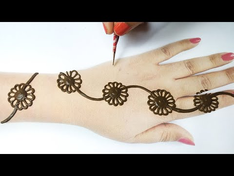Eid Special Gol Tikki Mehndi Design - डॉट्स से आसान मेहँदी लगाना सीखे | Stylish Mehandi