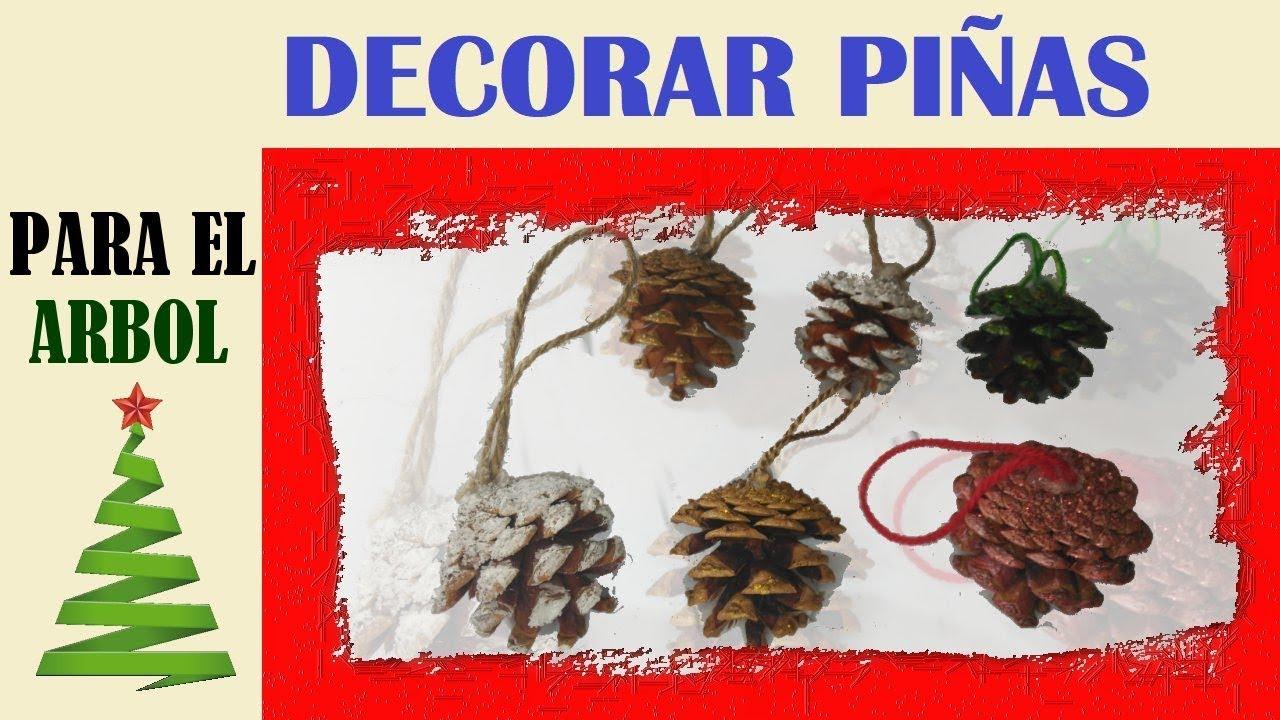 Diy pi as decoradas para navidad muy facil y economico youtube - Pinas decoradas para navidad ...