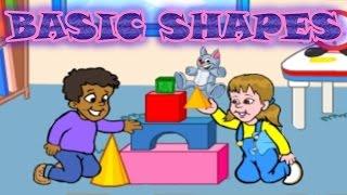 Basic 2D, 3D Shapes - Definition, Names - Preschool and Kindergarten Activities, Fun Game for Kids