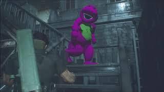 Jack Krauser Versus Barney The Dinosaur In Resident Evil 2 Remake