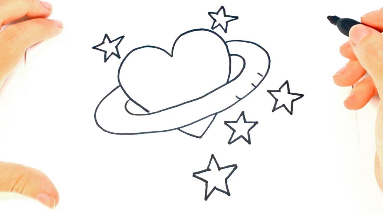 Como Dibujar Un Corazón Paso A Paso Dibujo Fácil De Corazón Bonito