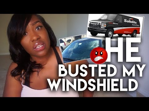 😲 He Busted Out My Car Windshield! |  Safelite Repair Experience