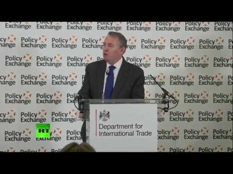 LIVE: Liam Fox makes a speech on Britain's position in the global trading system.