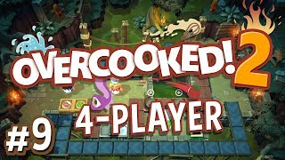 Overcooked 2 - #9 - HAUNTED SWAMPS! (4 Player Gameplay)