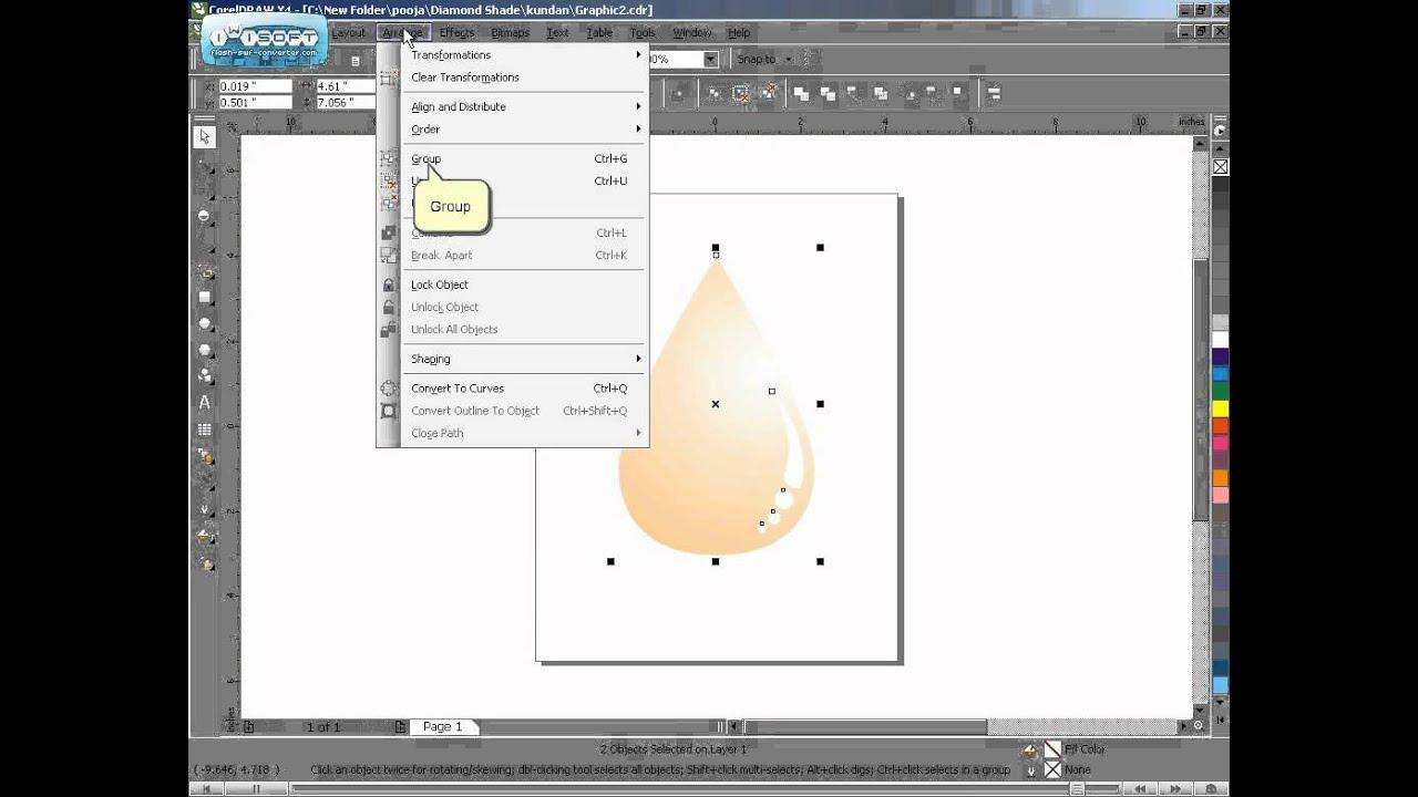 Online 2D Jewellery designing courses using CorelDraw