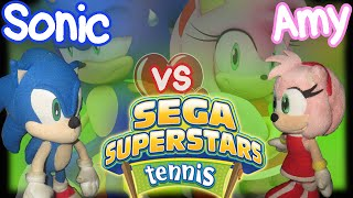 ABM: Sonic Vs Amy - Sega Superstars Tennis Gameplay!