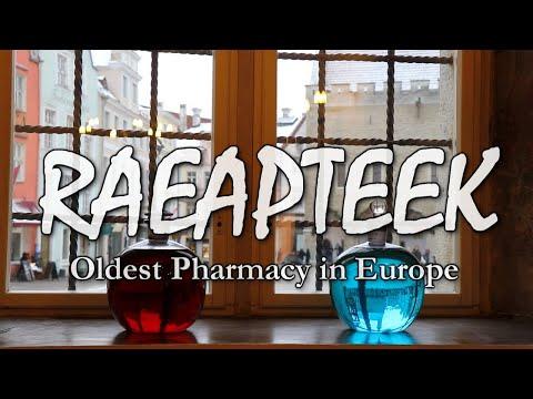 RAEAPTEEK - Town Hall Pharmacy, Oldest in Europe. Ратушная аптека - старейшая в Европе.
