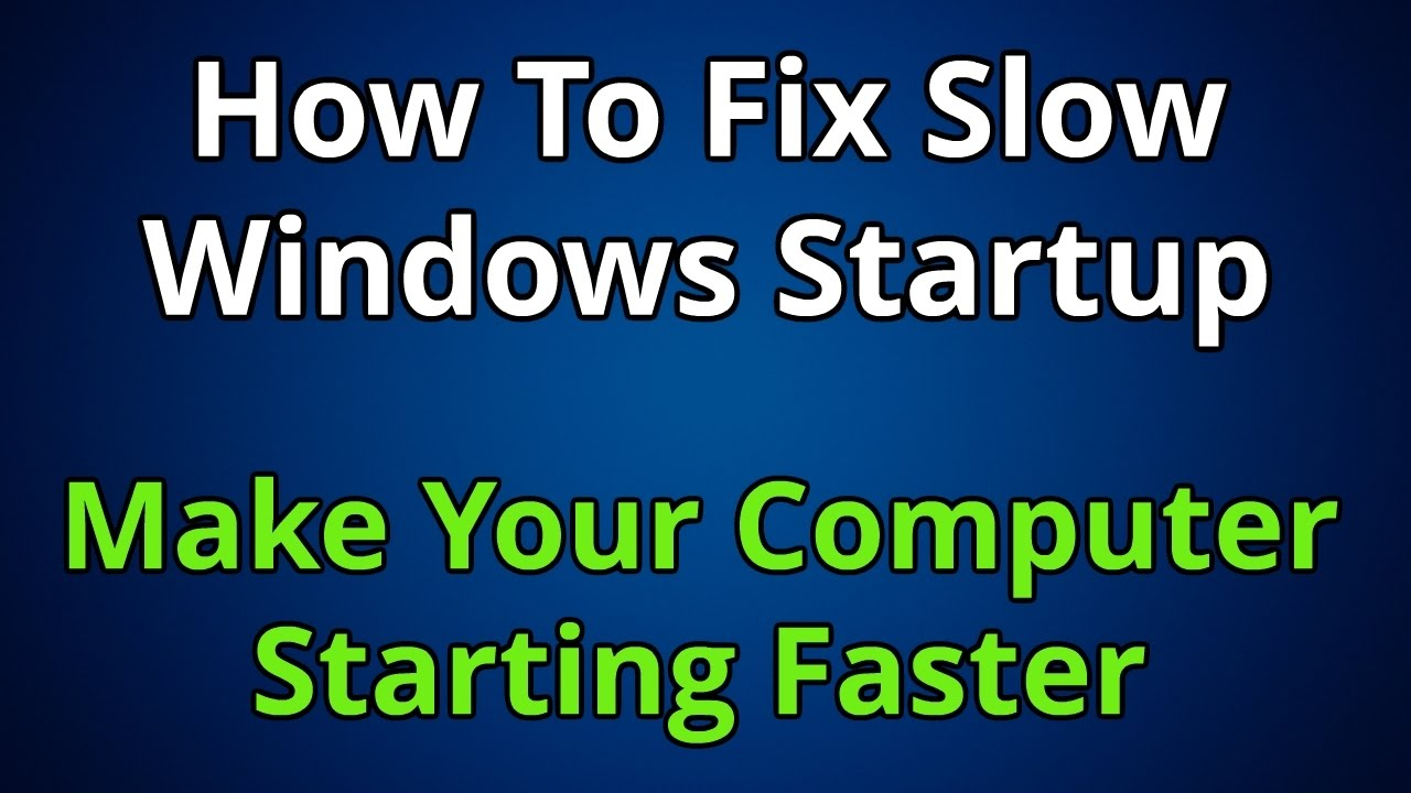 How to Make Windows 10 PC Boot Faster - isumsoft.com