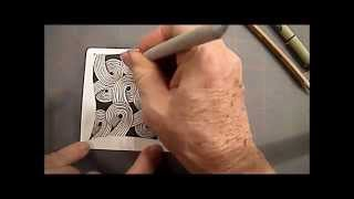 Sand Swirl tangle Pattern Lesson #7 how to draw
