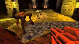 Quake 2 - Walkthrough - Mission 4 [Evolução do jogo quake, em modo normal player]