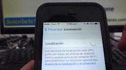 como Activar GPS o localización iphone 5S 5C 5 4 iOS 7 español Channeliphone