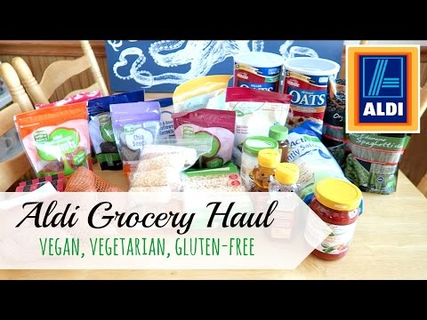 Aldi Grocery Haul!  (Vegan, Vegetarian, Gluten-Free Goodies!!!)