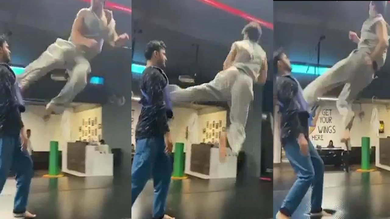 Download Tiger Shroff Practicing Triple Flying Kick For His Next Movie