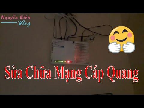 Sửa Chữa Mạng Cáp Quang VNPT đèn Los Báo đỏ  ✅ Nguyễn Kiên Vlog
