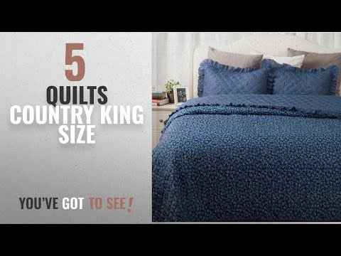 Top 10 Quilts Country King Size [2018]: French Country Quilt Set Coverlet King Size (106
