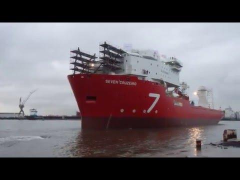 FULL HD, Tewaterlating / Launch / lançamento Subsea 7 Seven Cruzeiro 15-01-2016