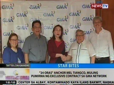 BT: '24 Oras' anchor Mel Tiangco, muling pumirma ng exclusive contract sa GMA Network