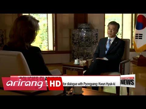 President Moon clarifies his North Korea policies to U.S. media