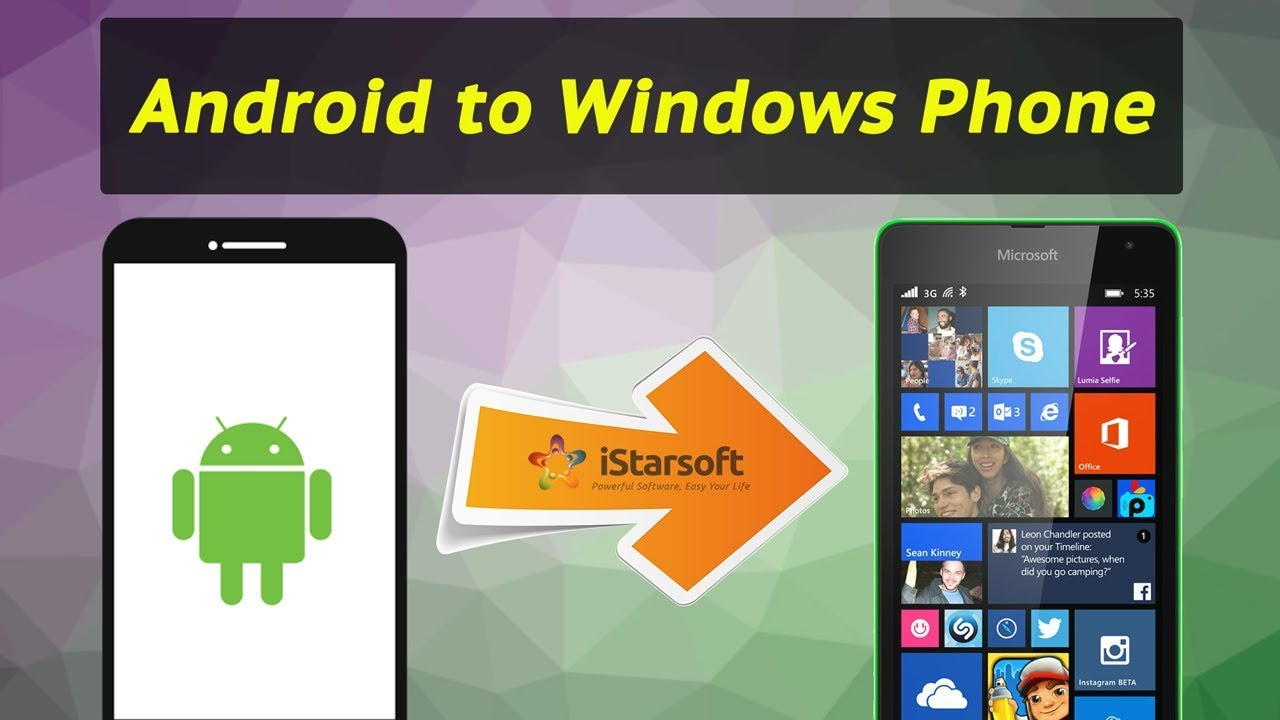 How to Transfer Data from Android to Windows Phone with dr fone - Switch