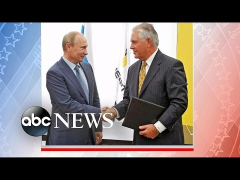 Rex Tillerson's Relationship with Russia