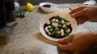 Свекла с сыром фета. Очень вкусный салат!