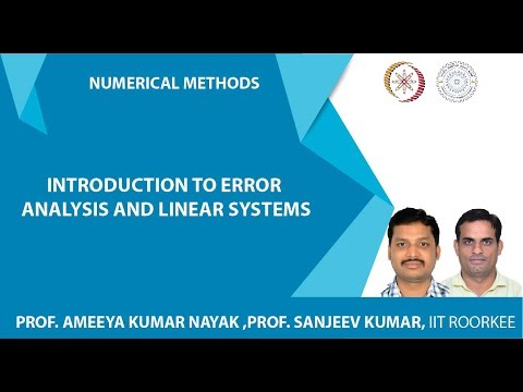 Introduction to error analysis and  linear systems