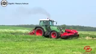 Sianokosy z JF-STOLL KONGSKILDE & POLTECH ! Farmtrac & Fendt
