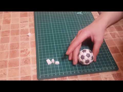 Как слепить футбольный мяч из мастики