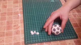 Мяч из мастики 3Д