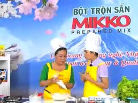 Hướng dẫn làm bánh bông lan hấp với bột trộn sẵn Mikko