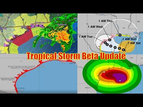 Tropical Storm / Hurricane Beta Update - Warnings, Storm Surge, NOAA Update - WeatherMan Plus