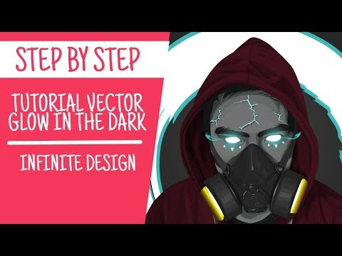 TUTORIAL VECTOR GLOW IN THE DARK | INFINITE DESIGN thumbnail