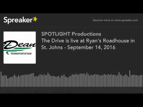 The Drive is live at Ryan's Roadhouse in St. Johns - September 14, 2016
