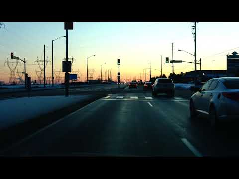 [4K] Evening Drive from Woodbridge to Brampton Ontario Canada