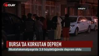 Bursa'da korkutan deprem (25 10 2016)
