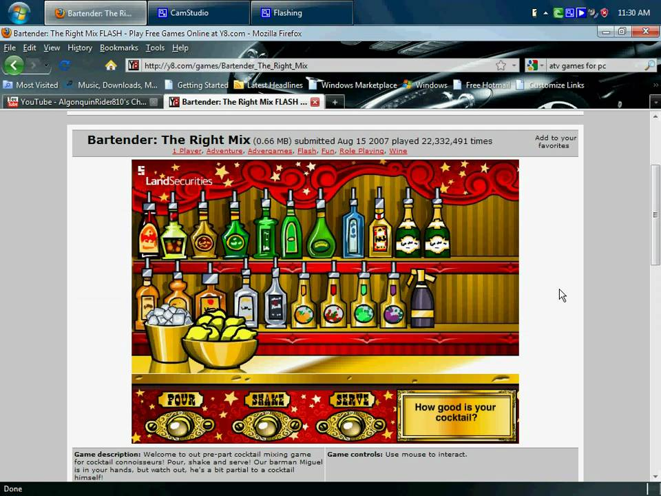 Y8.com: Bartender The Right Mix - YouTube  Y8.com: Bartend...