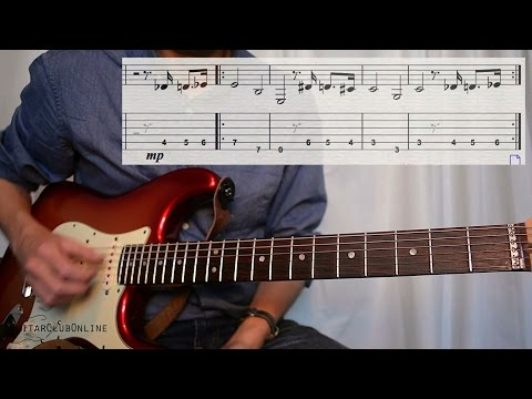 Learn the Complete Pink Panther solo LEAD Guitar Lesson & Play along