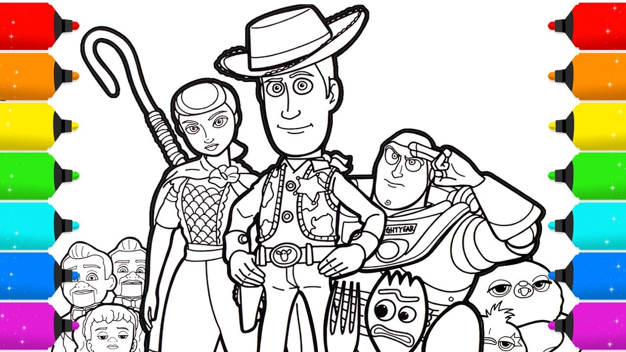 Toy Story 4 Coloring Page Drawing And Coloring Youtube