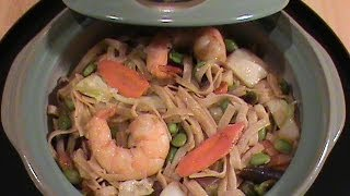 Shrimp Lo Mein (brown Rice Noodles)  --  Presented  By Chinese Home Cooking Weeknight