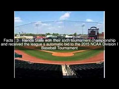 2015 Atlantic Coast Conference Baseball Tournament Top  #6 Facts