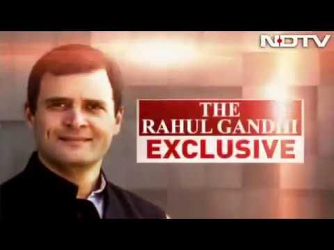 Congress President Rahul Gandhi's Interview to NDTV