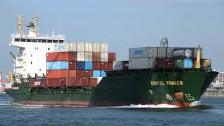 The REIDER SHIPPING's cellular container vessel DINTEL TRADER, boun...