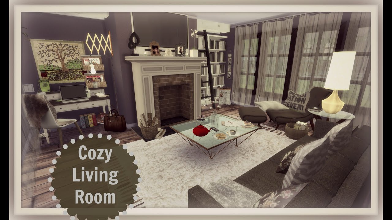 Sims 4   Cozy Living Room   YouTube
