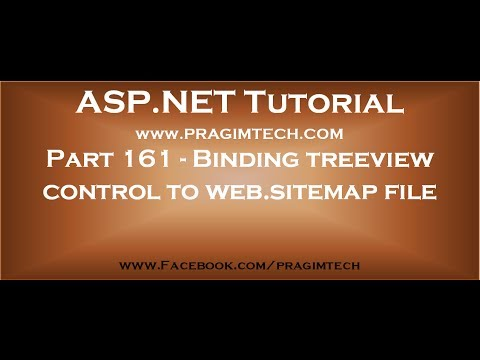 part 161 binding asp net treeview control to web sitemap file using