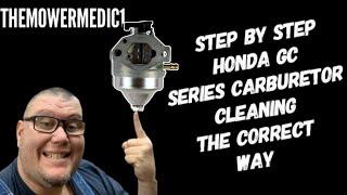 step by step honda gcv 160 carburetor cleaning