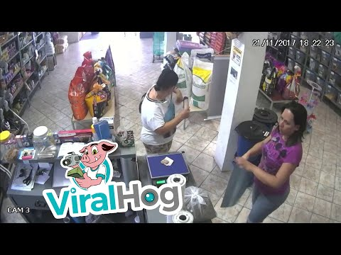 An Inconspicuous Thief Gets Away With the Cash || ViralHog