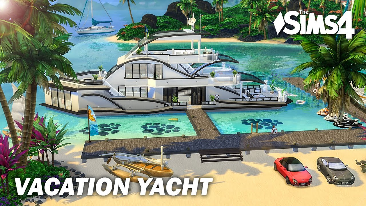Vacation Yacht   I renovate my Luxury Yacht   No CC   Artworks   Stop Motion   Sims 4