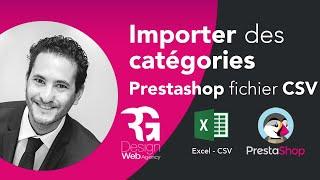 Import fichier csv categorie Prestashop 1.6